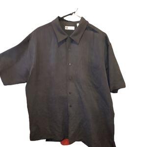 Bachrach Short Sleeves Mens Shirt size L